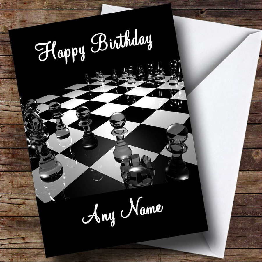 Chess Board Customised Birthday Card