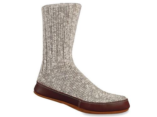 Acorn Grey Cotton Twist - Slipper Socks