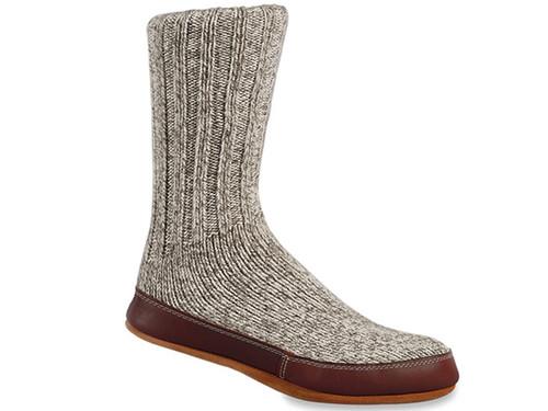 Acorn Grey Ragg Wool - Slipper Socks