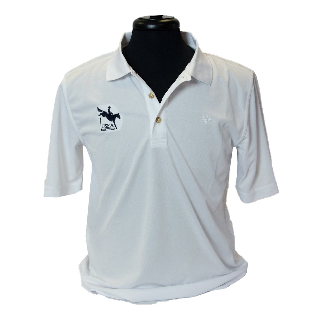 Ariat Men's Tek Polo (available in White, Navy and Black)