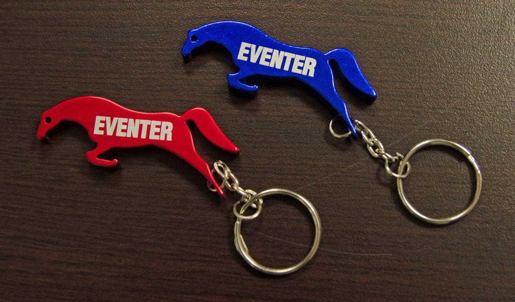 """Horse """"Eventer"""" Key Chain Bottle Opener"""