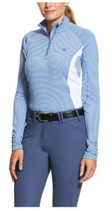 Ariat Tri-Factor 1/4 Zip - Heather Stripe
