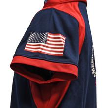 American Flag on left sleeve