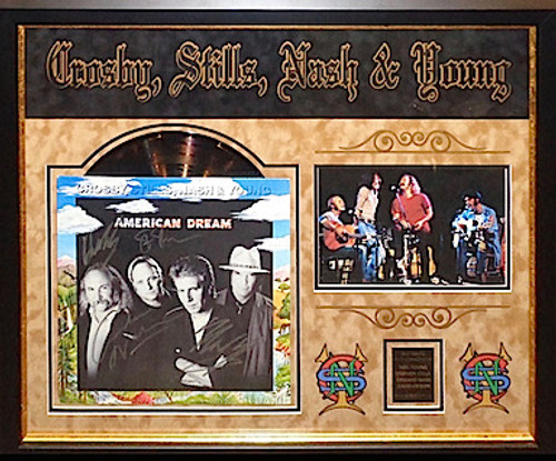 Crosby Stills Nash And Young Signed Album
