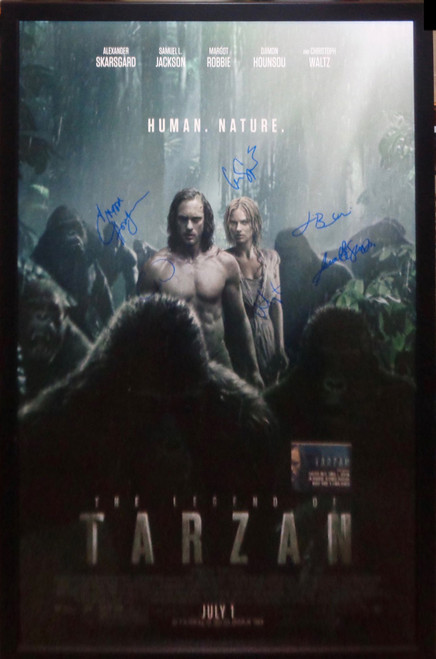 Legend Of Tarzan Cast Autographed Movie Poster