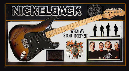 Nickelback Autographed Guitar