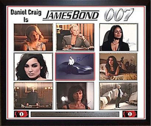James Bond Signed Photo Collage