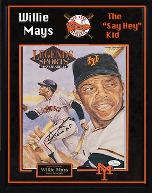 Willie Mays Signed Photo