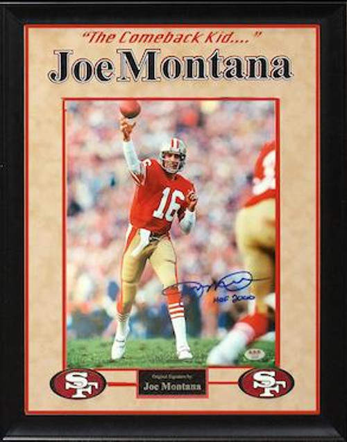 Joe Montana Signed Photo