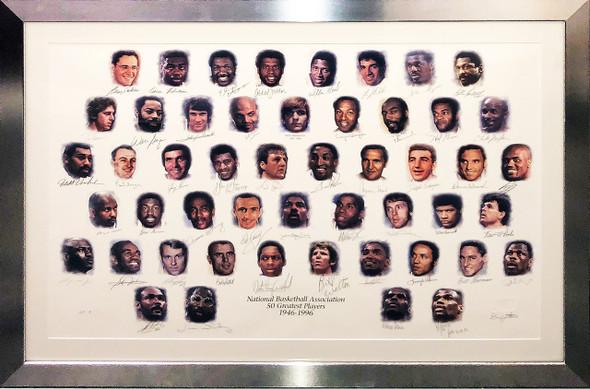 NBA 50 Greatest Players Litho