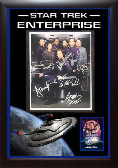 Star Trek Enterprise Cast Signed Photo