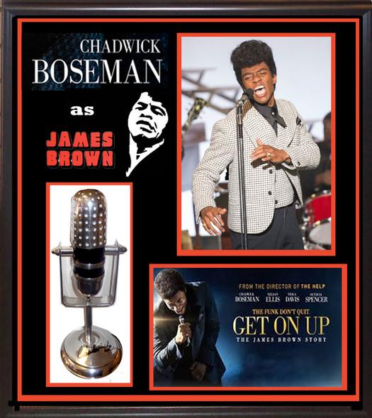 Chadwick Boseman Signed Microphone