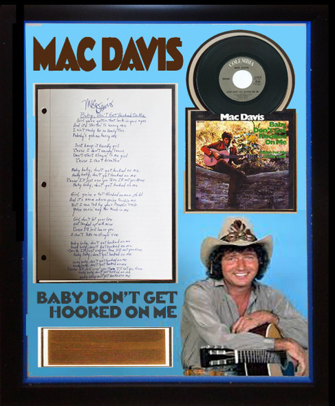 Mac Davis Signed Lyrics