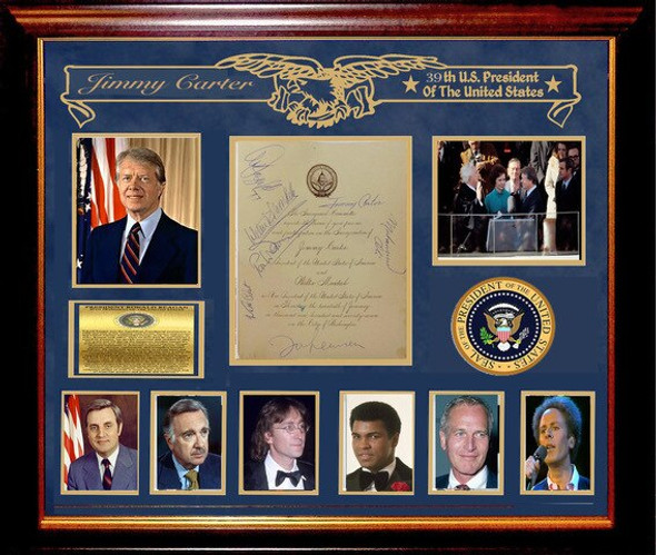 Jimmy Carter Signed Inauguration Invitation By 7