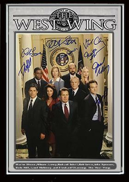 The West Wing Cast Signed Photo