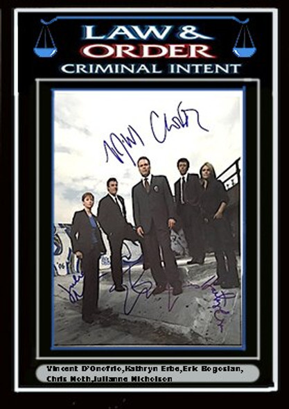 Law & Order Criminal Intent Signed Photo By 5