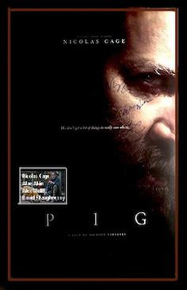 PIG Autographed poster