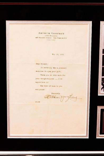 Arthur Godfrey Signed Letter