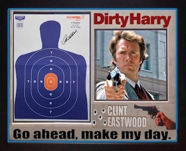 Clint Eastwood Autographed Shooting Target