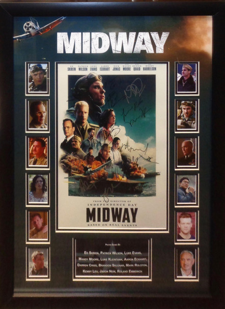 Midway Autographed Lobby Card
