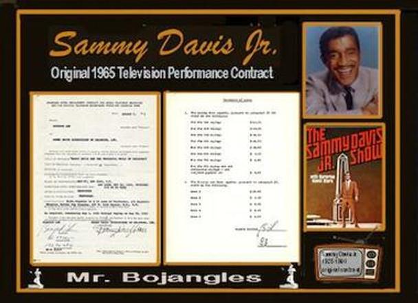 Sammy Davis Jr. Signed Contract
