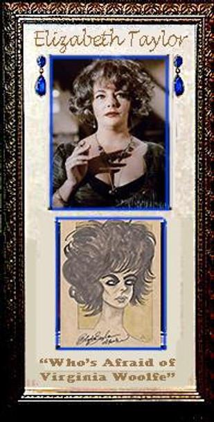 Elizabeth Taylor hand drawn sketch