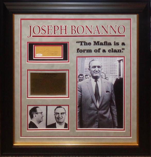 Joseph Bonanno Original Autograph