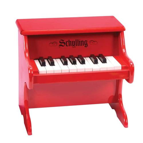 Mini Wooden Red Piano