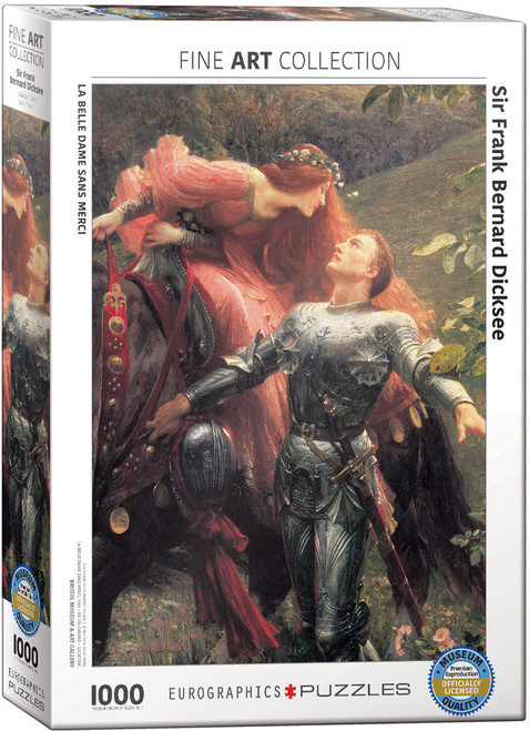 La Belle Dame sans Merci by Sir Frank Bernard Dicksee 1000 Piece Puzzle