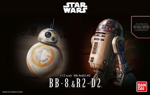 BB8 & R2D2 Star Wars 1/12 scale Bandai Model Kit