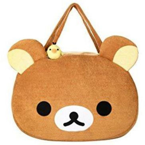 Rilakkuma Face Plush Purse Tote