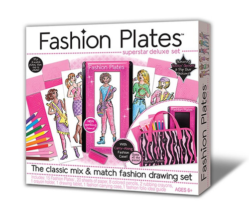 Fashion Plates Superstar Drawing Set