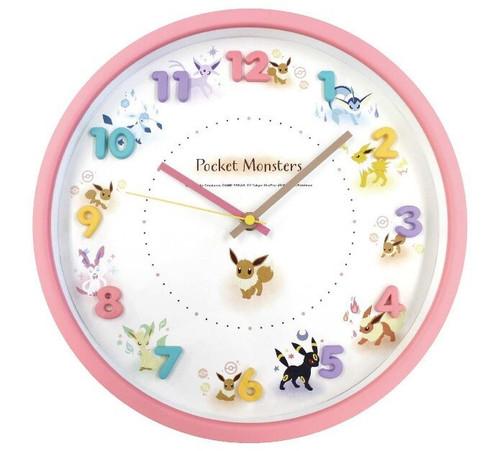 Pocket Monsters Eevee Evolutions Pokemon Clock