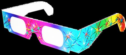 3D Rainbow Diffraction Glasses