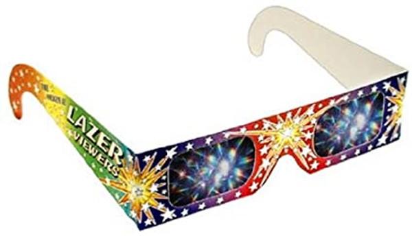 Rainbow Fireworks 3D Glasses