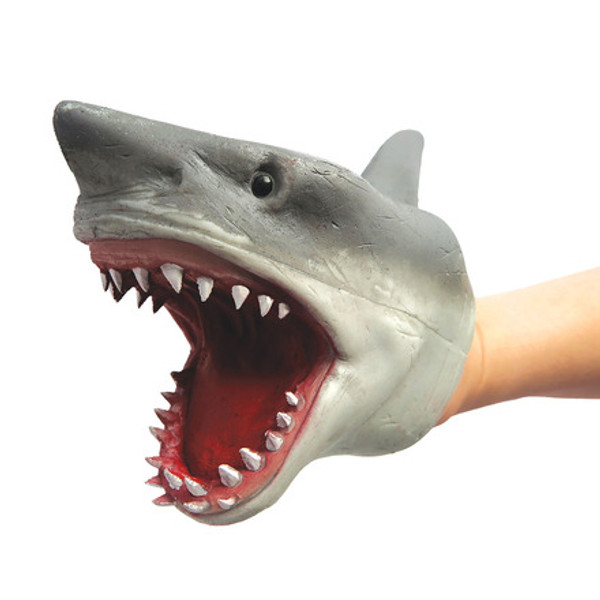 Shark Hand Puppet Stretchy