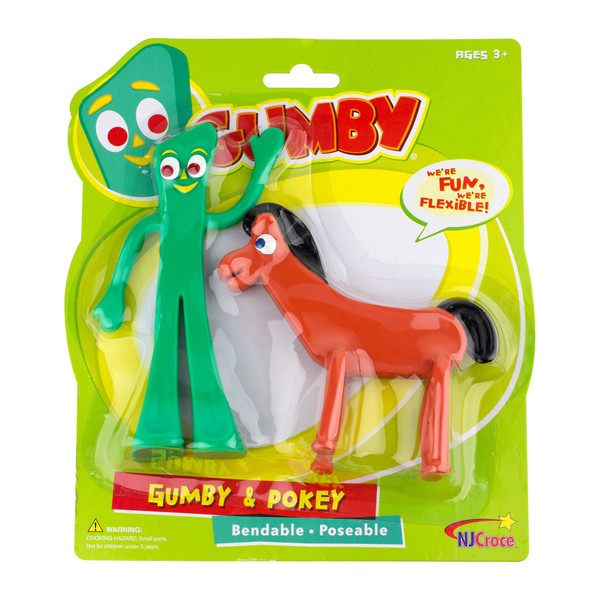 Gumby and Pokey Bendable Pair Action Figures