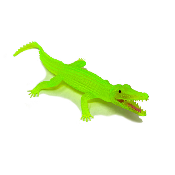 Neon Alligator Squeak Toy