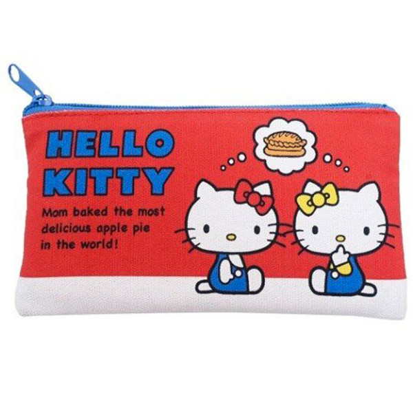 Hello Kitty and Mimmy Flat Zip Pouch