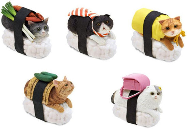 Sushi Cat Blind Box Series 1 keychain Surprise Box