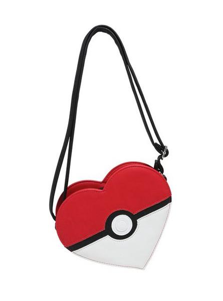 Pokemon Pokeball Heart Crossbody Purse