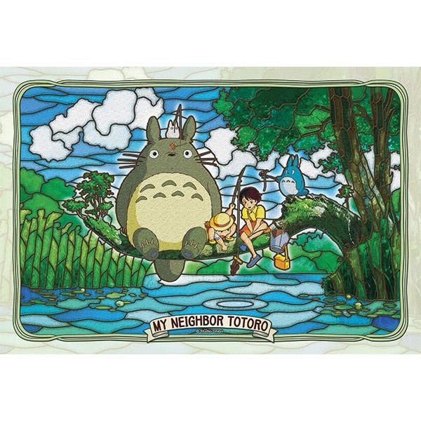 Totoro and Friends Fishing Ensky Artcrystal 300 Piece Puzzle