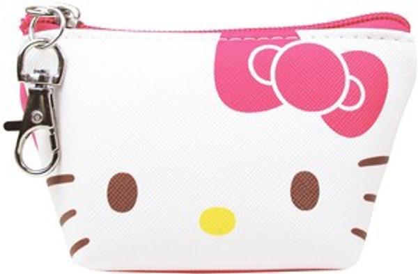 Hello Kitty Triangle Zip Pouch Keychain