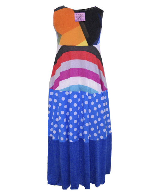 1890879413 Twirly Girl Little Girls Maxi Dresses 70 s Beach Colorful Stripes ...