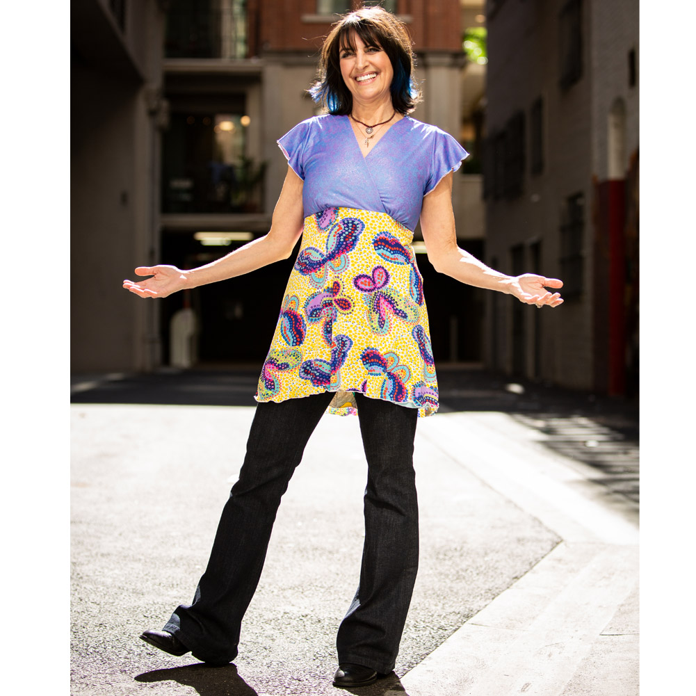 Womens Reversible Tunic Top