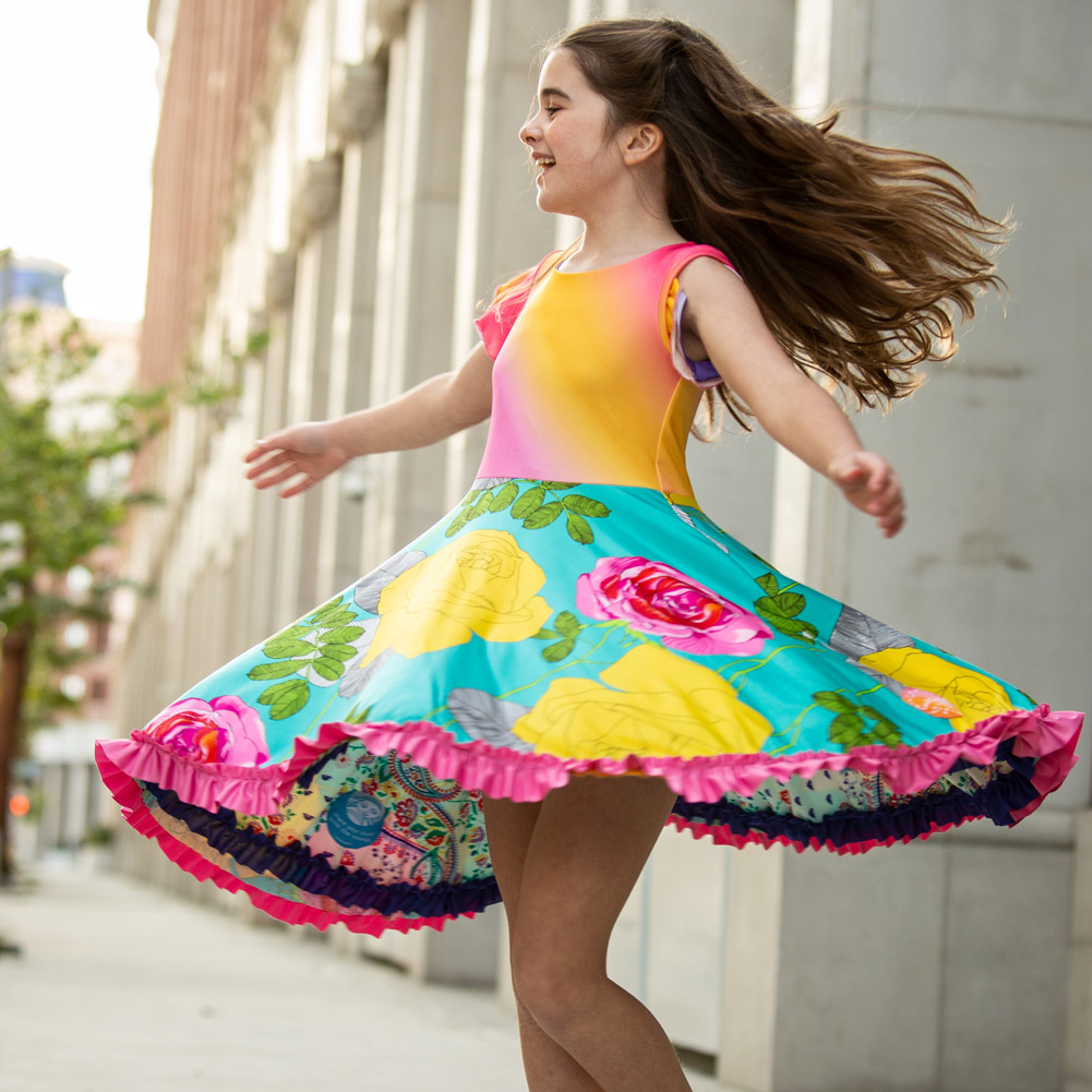 Twirling Reversible Dress for girls