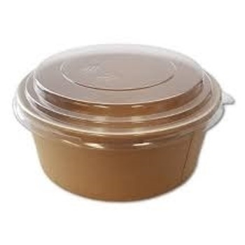 26 Ounce Kraft Round Paper Food Container just Base for hot or cold Food (a pack of 360)