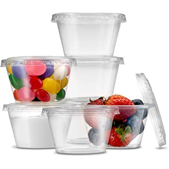 Dart [400PC] Plastic Container Round [4oz] (118ml) Portion Base only (a pack of 2500)