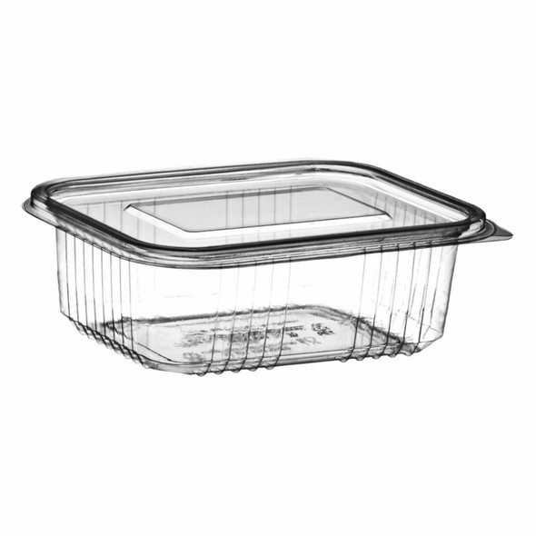 Somoplast [916] Clear Hinged Rect. Container [375cc] Flat (a pack of 640)