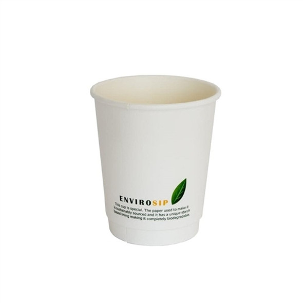 8oz Biodegradable Paper Cup Double Wall (a pack of 500)